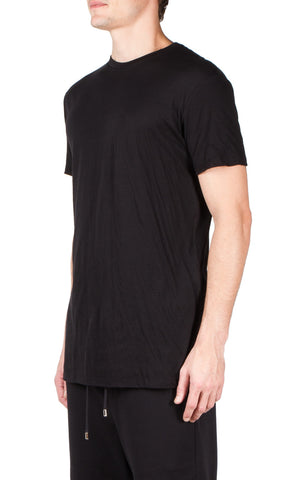 double layer t-shirt in black