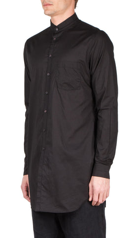 cuffed collar shirt in black
