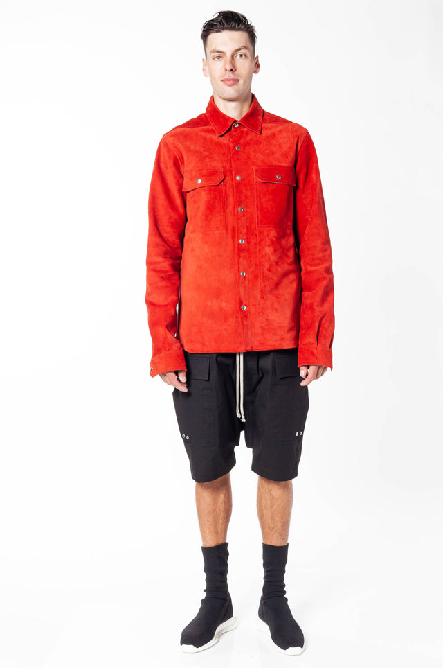 Rick Owens Outershirt In Leather