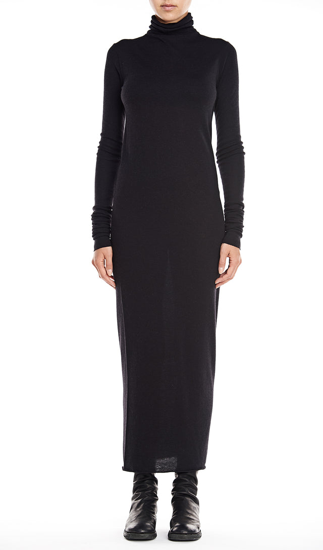 Rick Owens Lilies Abito Dress Turtleneck In Black