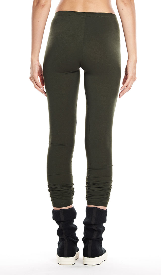 Rick Owens Lilies Leggings In Forest