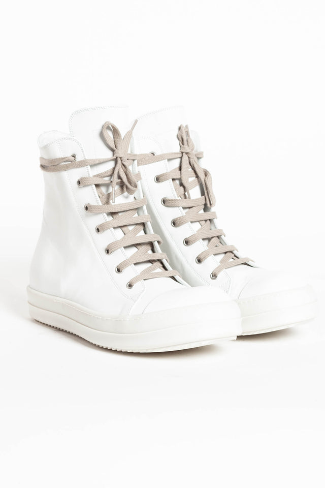 Rick Owens Sneakers In Chalk White