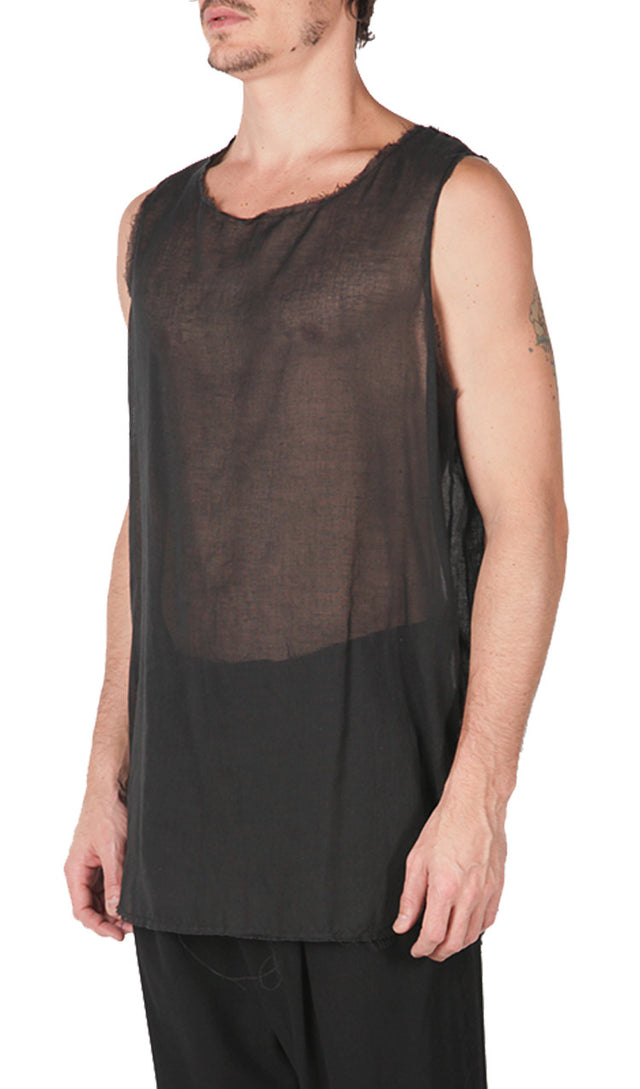 Crinkled Cotton Tank