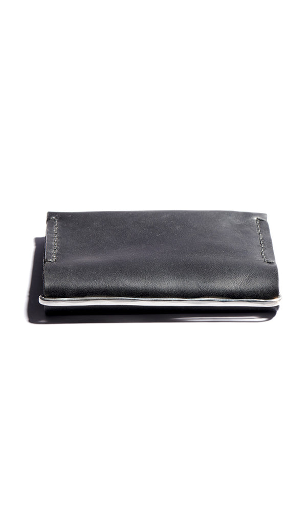 Hammered Double Card Case + Clip