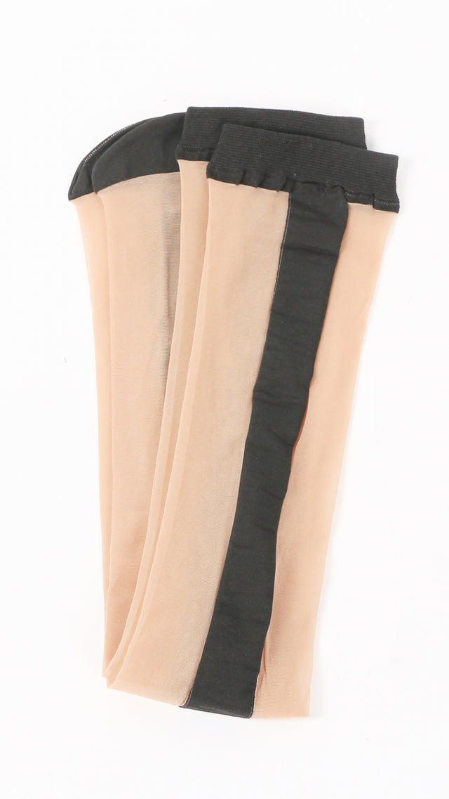 Uma Wang Socks in Nude & Black