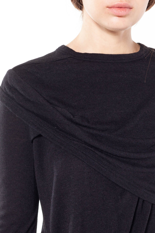 Lilies Draped LS Top