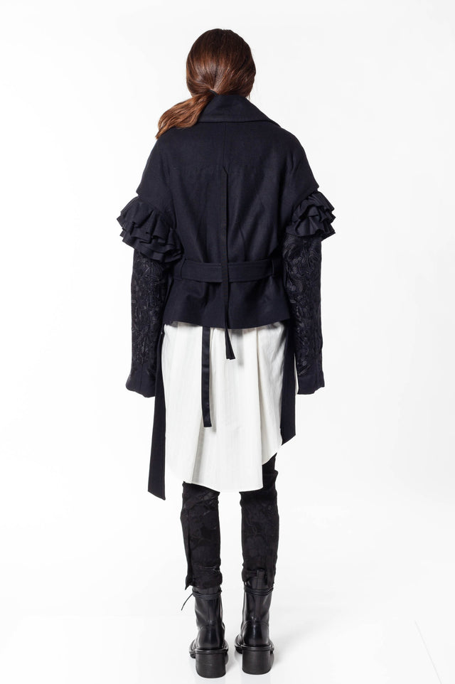 Ann Demeulemeester Embroidered Jacket