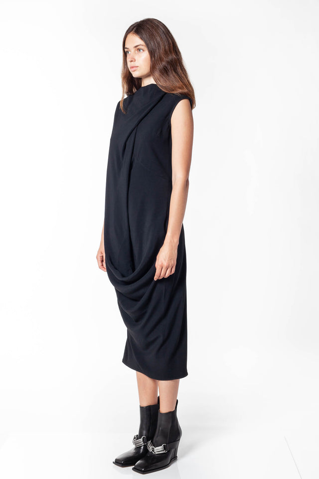 Slash Neck Ellipse Dress