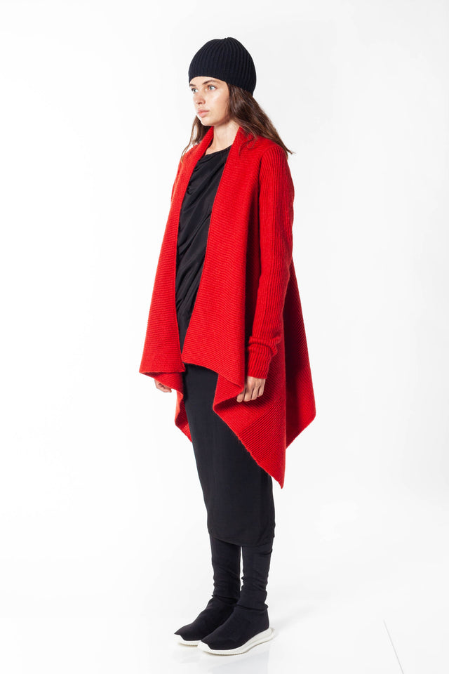 Rick Owens Fisherman Wrap In Cardinal Red