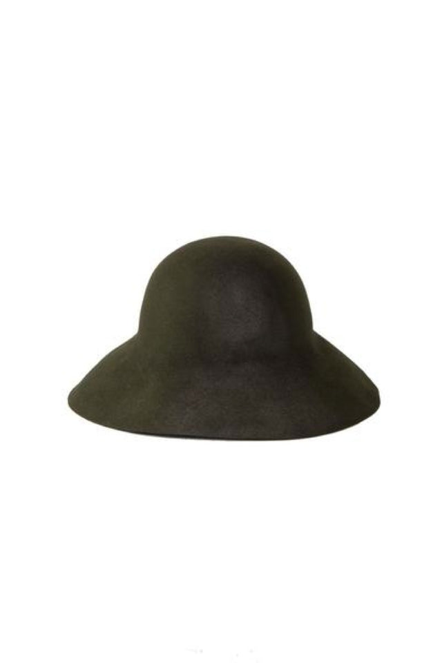 Horisaki Dot Burnt Hat In Green