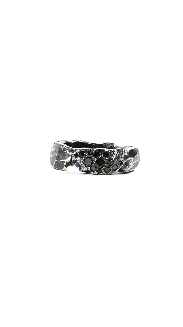 Chin Teo Love Ring with Black Diamond 0.5ct