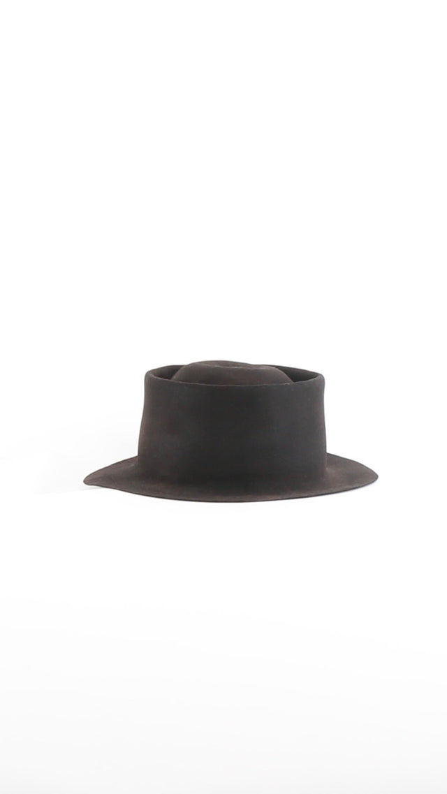 Horisaki Easy Burnt Hat in Black