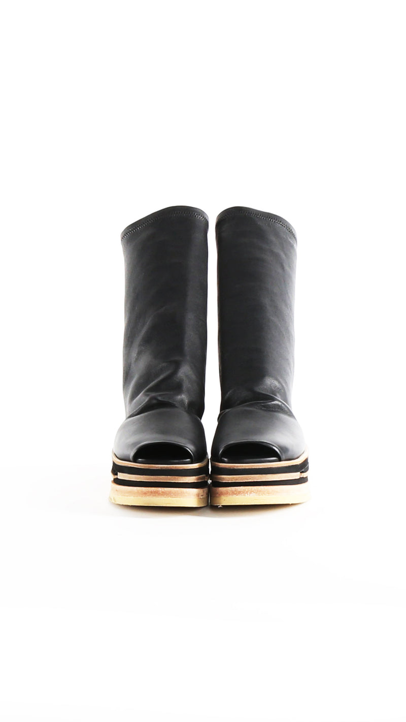 Rick Owens Lego Sock Leather Shoes
