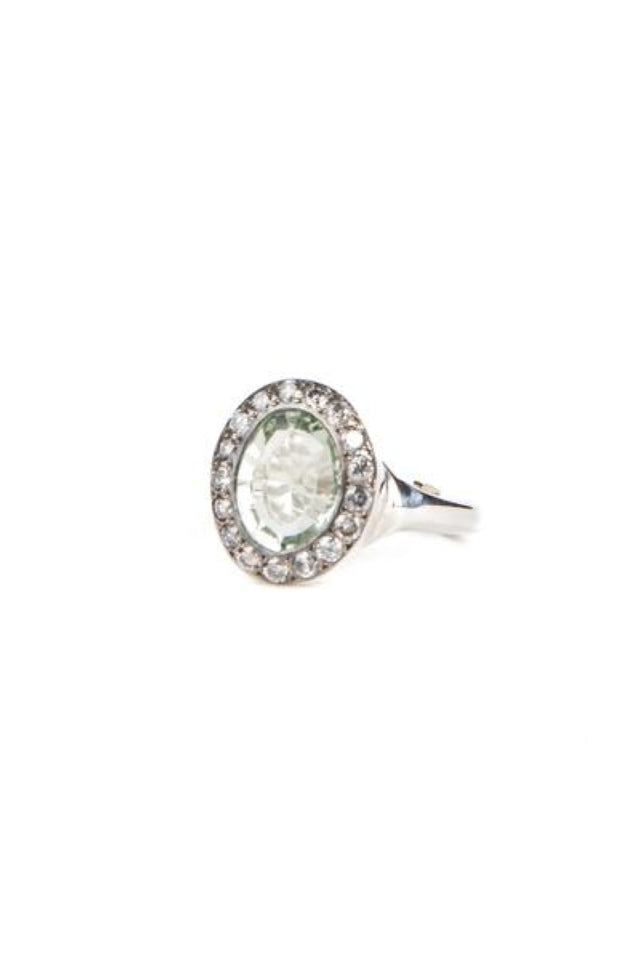 Rosa Maria Iroma Ring With Grey Diamonds