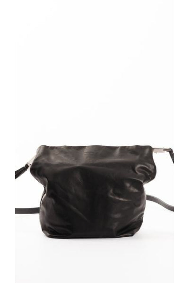 Rick Owens Small Adri Leather Bag in Black