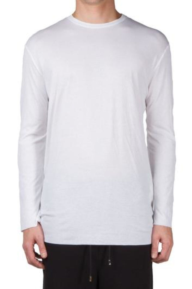 Thamanyah LS Double Layer T-Shirt In White