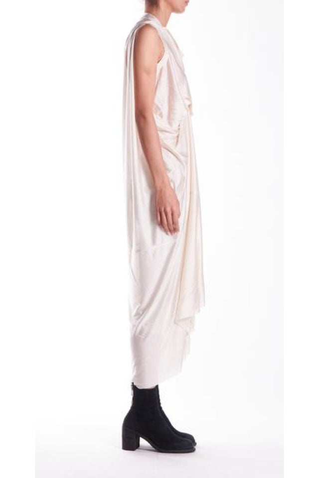 Rick Owens Lilies Abito Tornado Gown in Natural