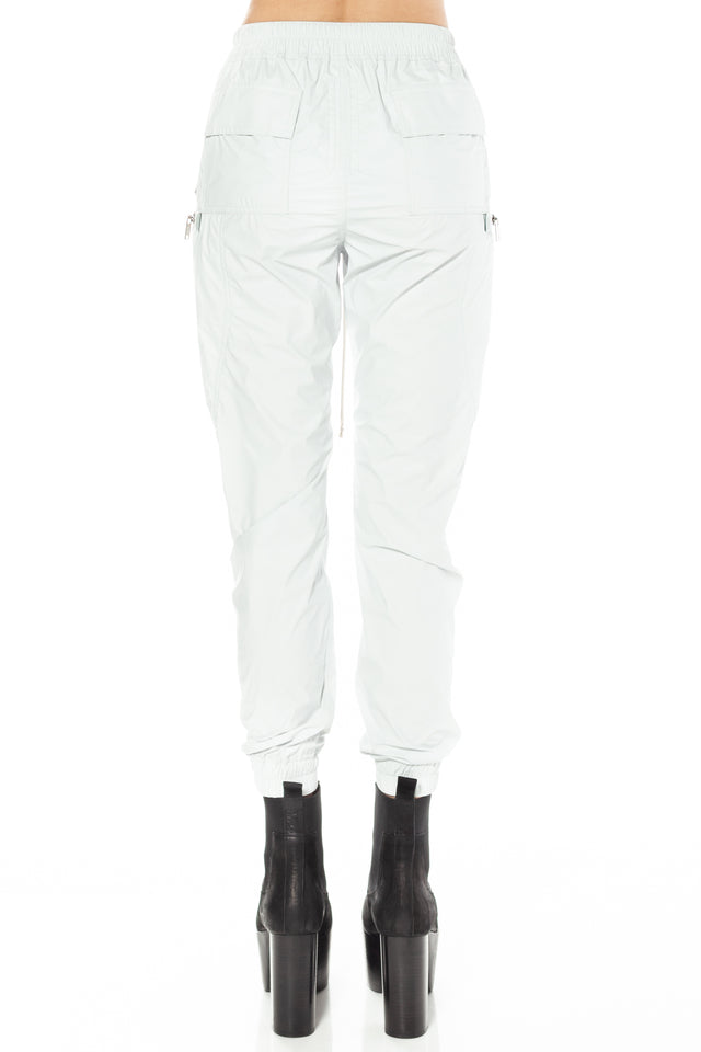 Rick Owens Cargo Jog In Chalk White