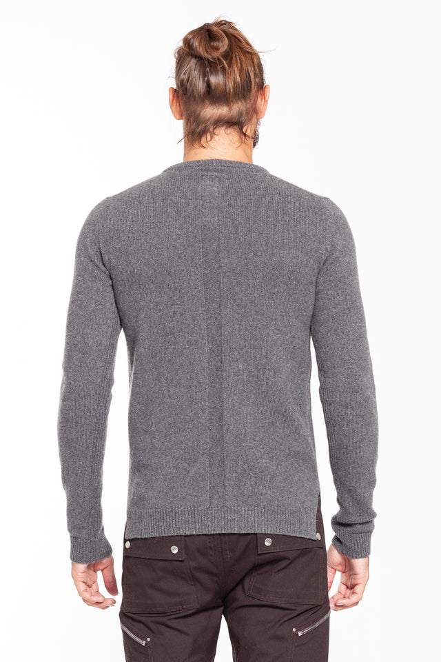 Grey Biker Sweater