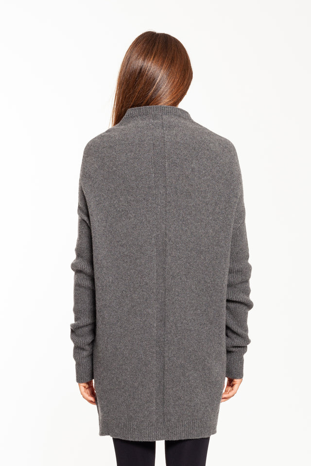 Grey LS Crater Sweater
