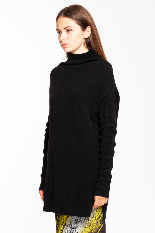 Black LS Crater Sweater