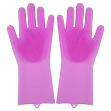 Load image into Gallery viewer, New Silicon Gloves with Cleaning Brush for Kitchen Wash and Housekeeping
