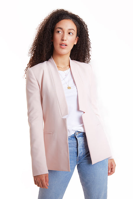 IXORA apparel elizabeth blazer straight-cut blazer light pink