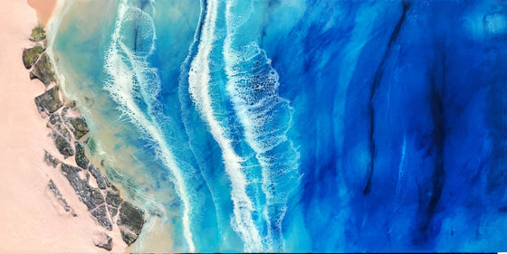 "Sunbathing in the Bay - 48"" x 24"""