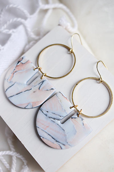Ellipse Earrings - Petal & Posy