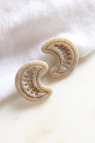 New Moon Studs in Gold - Petal & Posy