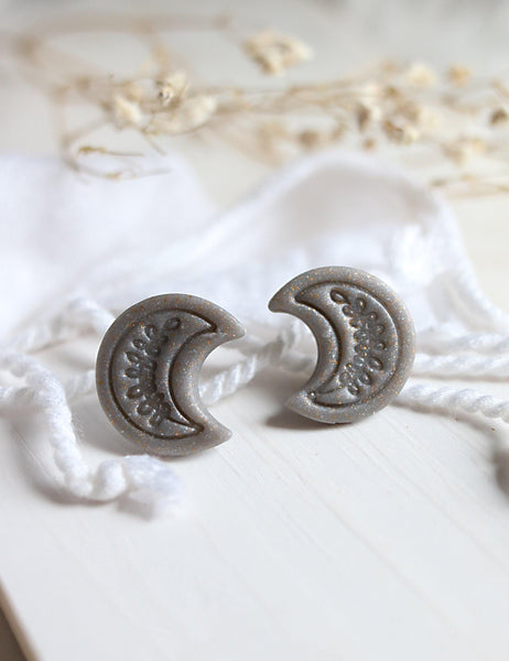 New Moon Studs - Petal & Posy