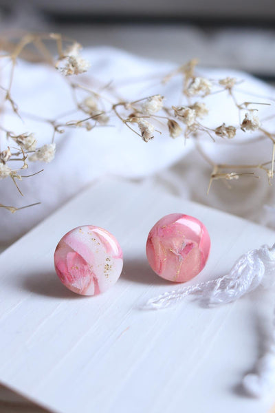 Rosy Disposition Studs - Petal & Posy