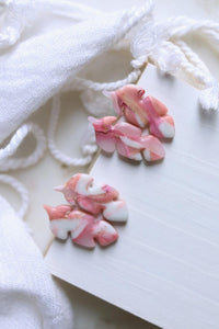 Take Flight Studs in Pink, Rose, Gold and Translucent - Petal & Posy