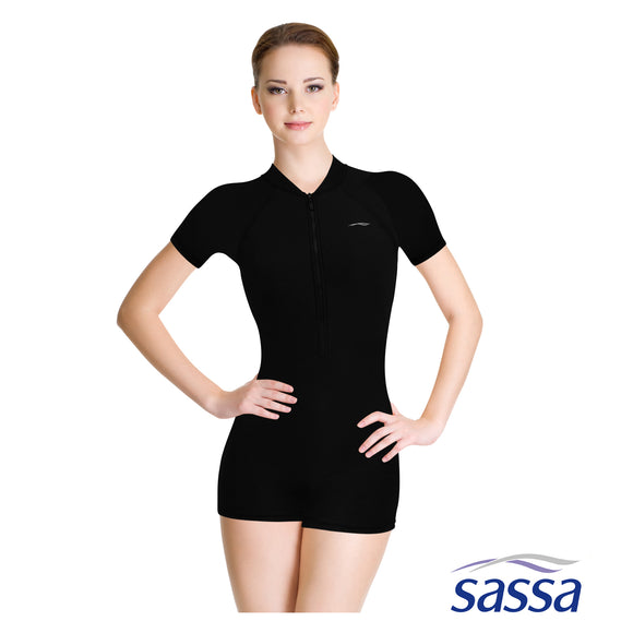 Essentials One Piece Short-Sleeved Rashguard with UPF 50