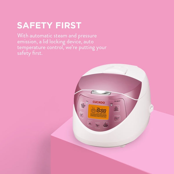 Cuckoo CR-0631F 6 Cup Multi-functional Fuzzy Logic Rice Cooker - Pink 다기능 밥솥 보온기