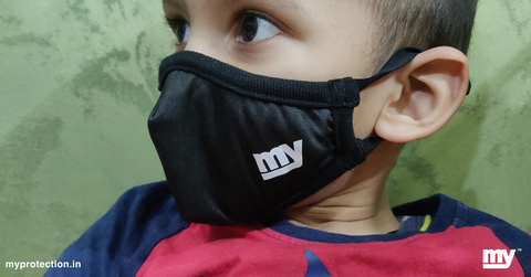kids safety with my antiviral mask