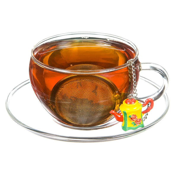 Mesh Ball Infuser with Polyresin Ornament (Wholesale)