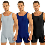 Load image into Gallery viewer, Mens Stretchy One Piece Sport Gym Bodysuit Leotard Dance Stage Performance Biketard Unitard
