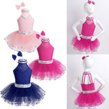 Load image into Gallery viewer, Girls Professional Rhinestone Ballet Modern Dancing Costume Ballerina Dance Dresses