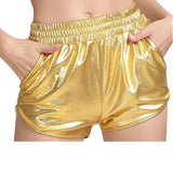 Load image into Gallery viewer, Women Metallic Elastic Waist Shiny Hot Rave Dance Booty Shorts