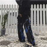 Load image into Gallery viewer, Women Casual Dark Street Retro Lightning Loose Wide Leg Hip Hop Joggers Dance Pants