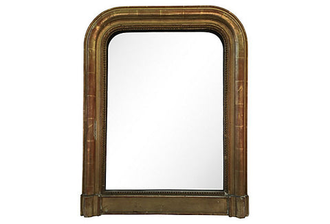 19th-Century Gilt Louis-Philippe Mirror - FREE WHITE GLOVE SHIPPING