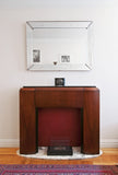 Prohibition Era Fireplace Mantel with Secret Dry Bar Compartment