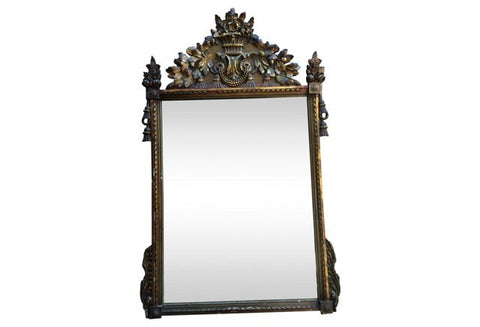 Italian Carved and Gilt Mirror in the 18th-century French Regency style