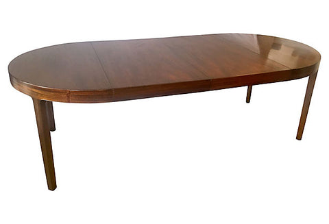 1940s French Mahogany Extension Table - SHIPPING not included