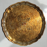 Large Florentine Round Gilt Tray w/Maker's Mark