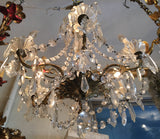 Italian Crystal and Glass Chandelier