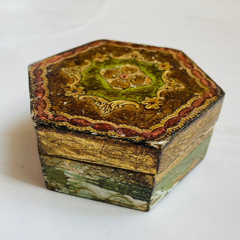 Florentine Painted & Parcel-Gilt Ring Box
