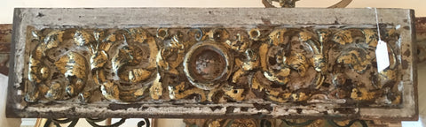 17th-Century Parcel-gilt Wooden Panel