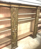 18th-Century Italian Painted & Silver Gilt Bookcase